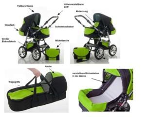 Bester Kinderwagen Flash mit Komplett Ausstattung