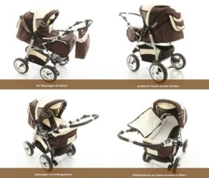 Kinderwagen guenstig - Chilly Kids iCaddy Baby Wagen ab Geburt