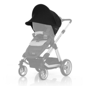 Sonnensegel Kinderwagen - ABC-Design 2016 Universal Sonnensegel black - Top