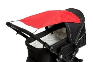 Sonnensegel Kinderwagen - Altabebe Sonnensegel mit UV Schutz für Kinderwagen Buggys, rot - Top