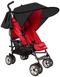 Sonnensegel Kinderwagen - Sunnybaby 11240 Sonnendach für Sportwagen, Buggys und Kinderwagen, Flexi-XXL, schwarz - im Vergleich