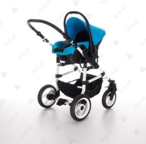 Kinderwagen kaufen - Bebebi Modell Babywanne im wunderschönen blauen Design
