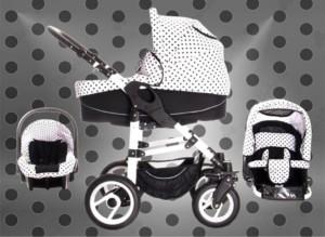 Kinderwagen kaufen - Bebebi Paris Kombi-Kinderwagen mit guten Lufreifen