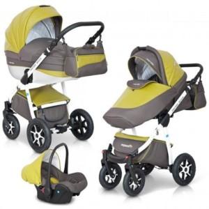 Kinderwagen kaufen - Mondo Ecco Leder Version Alu Tech Wagen